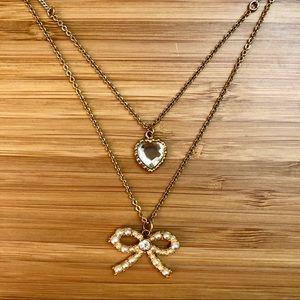 Betsy Johnson layered necklace
